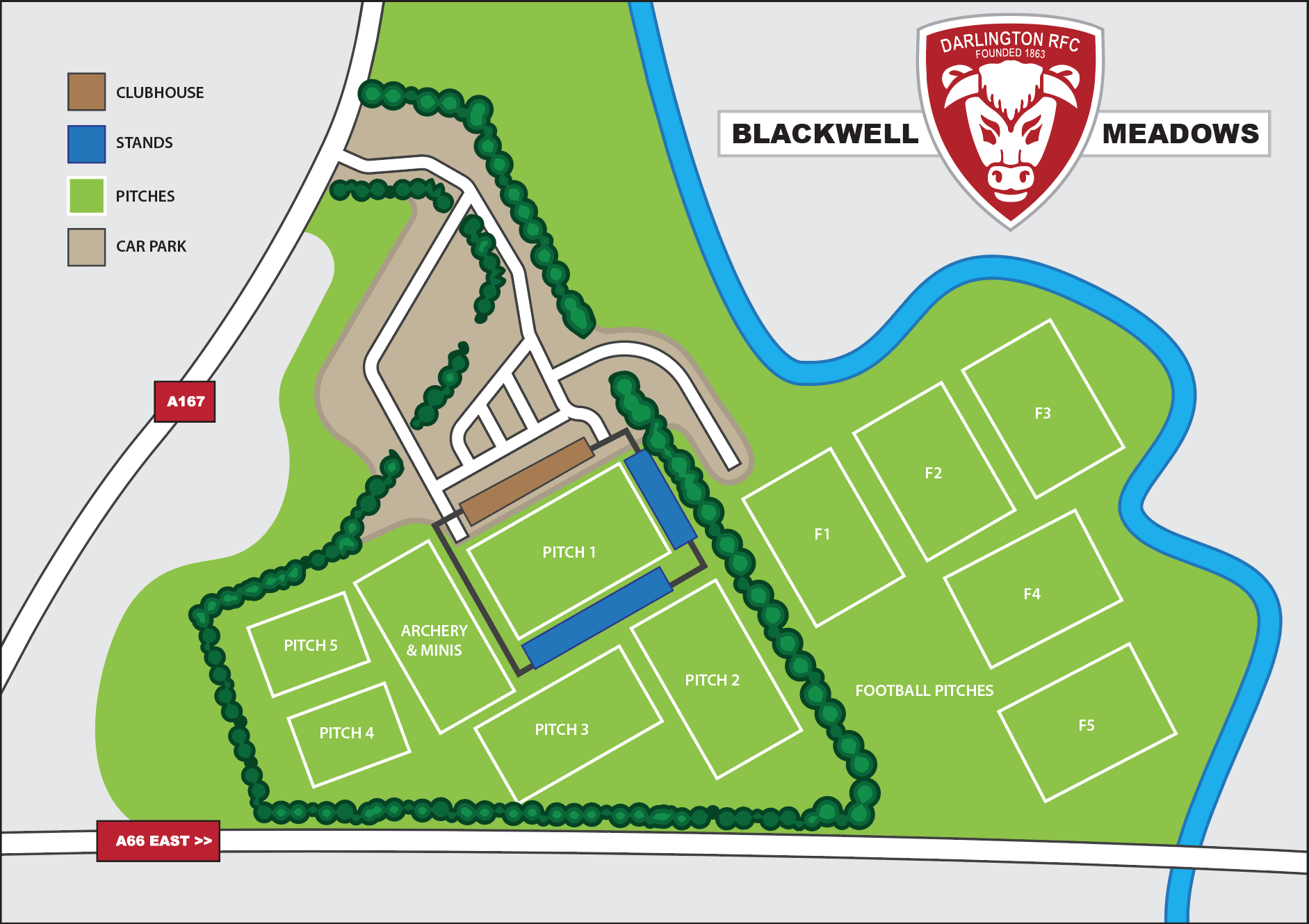 Blackwell Meadows site map