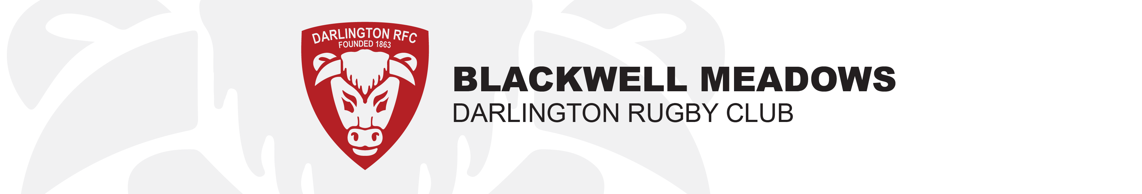 Blackwell Meadows Home of Darlington R.F.C. Logo
